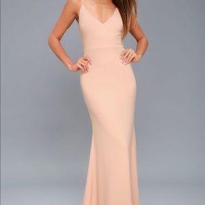 Lulus Blush Pink Maxi Dress